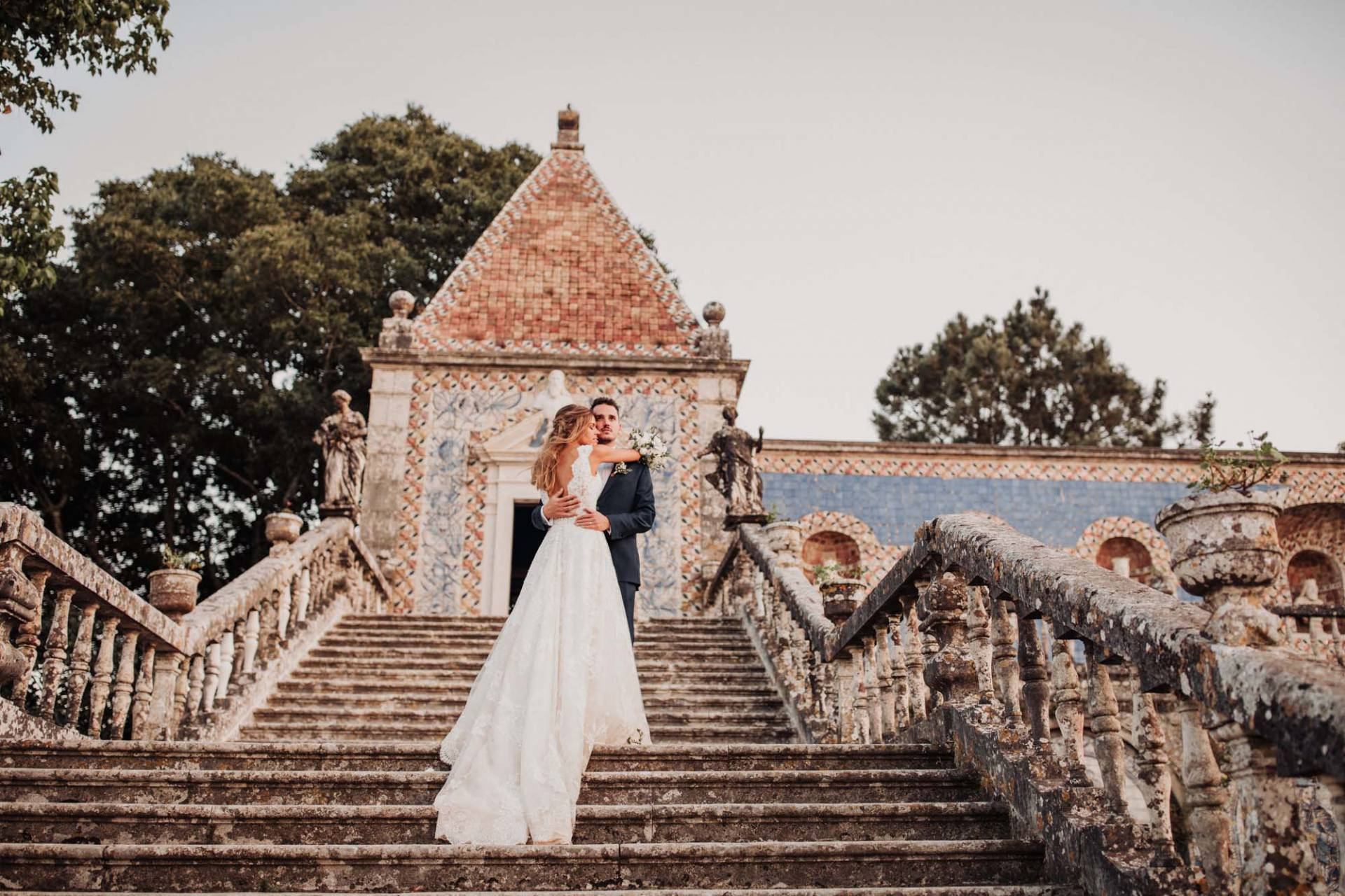Romantic wedding at Palácio Marqueses da Fronteira